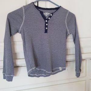Navy & White Stripe Shirt